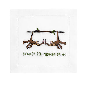 Monkey See, Monkey Drink Cocktail Napkins