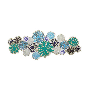 ROUND CORAL BEADED TABLE RUNNER IN TURQUOISE
