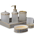 Aero Coffee Enamel Gold Trim Vanity Set - Pioneer Linens