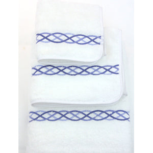 Blue Loop Towel Set