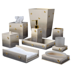 Breeze Natural with Gold Butterflies Vanity Set