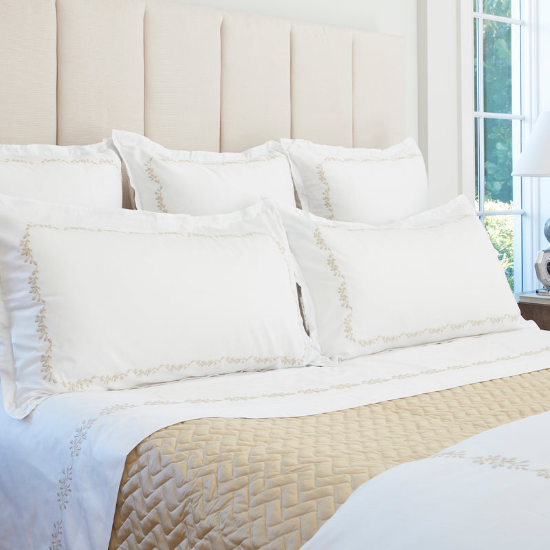 Elisee White Bed Linens - Pioneer Linens