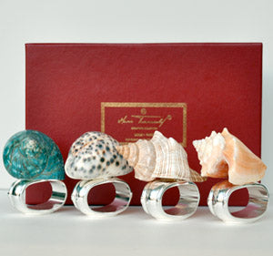 Four Shells - Napkin Rings