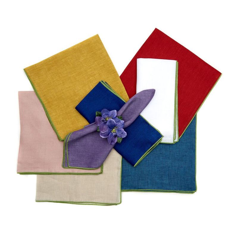 Green Contrast Edge Napkins