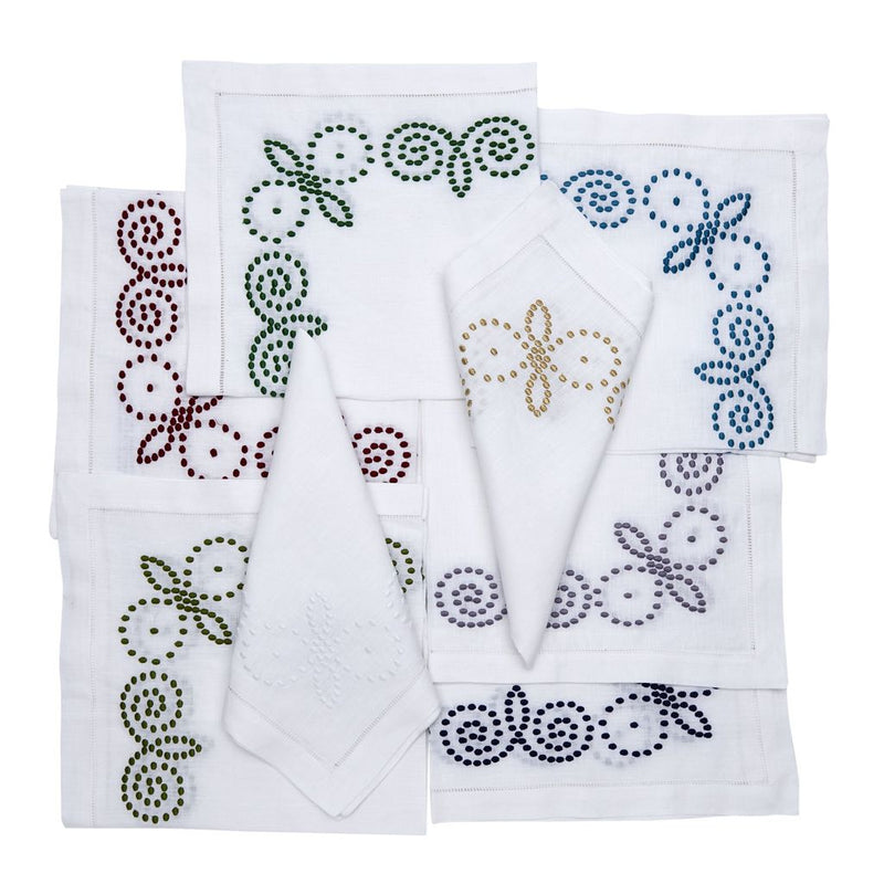 Henna Embroidered Napkins - Pioneer Linens