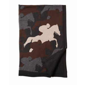 Cantering Horse Cashmere Throw