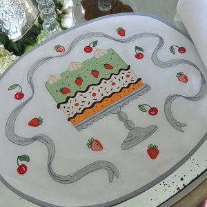 Assorted Cakes - Placemat and Napkin Set