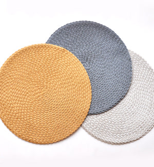 Lurex Metallic Triple Braid Placemat