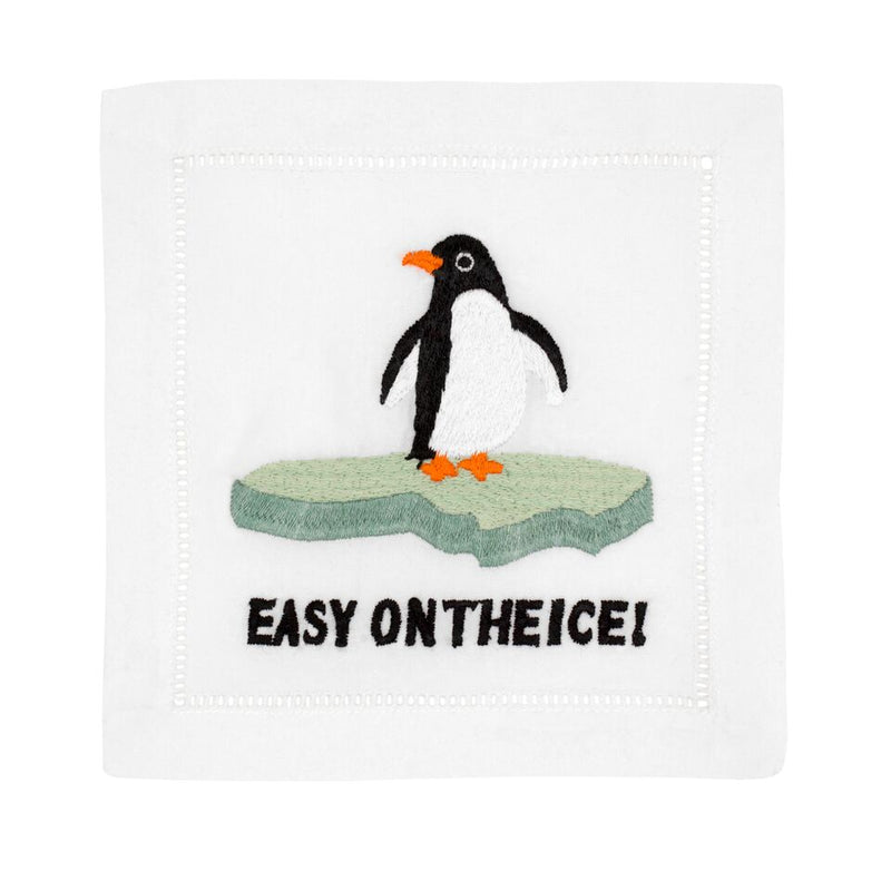 Easy On The Ice Cocktail Napkins