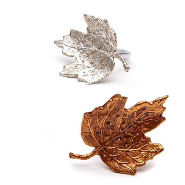Maple Leaf Napkin Rings - Pioneer Linens