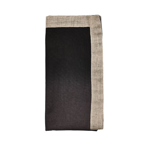 DIP DYE NAPKIN IN GRAY & BLACK