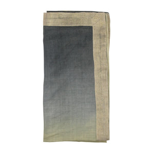 DIP DYE NAPKIN IN SAGE & MIDNIGHT