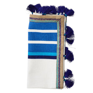 JAIPUR NAPKIN IN WHITE & BLUE