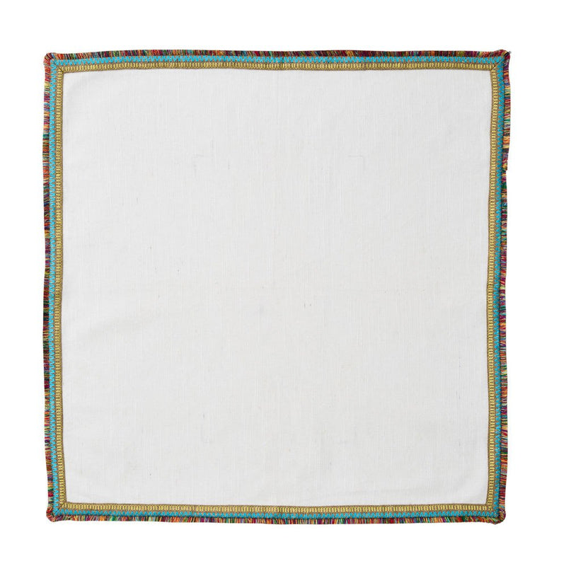 SPECTRUM NAPKINS IN WHITE & MULTI - Pioneer Linens