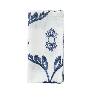 WISTERIA NAPKIN IN WHITE & NAVY