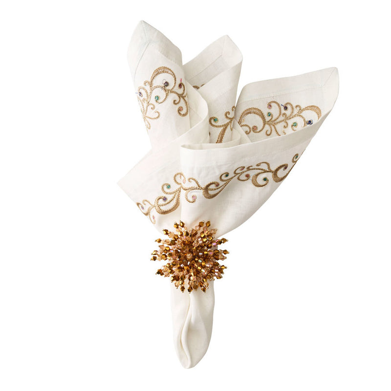 BRILLIANT NAPKIN RING IN GOLD - Pioneer Linens