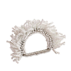 CARNIVAL NAPKIN RINGS IN WHITE