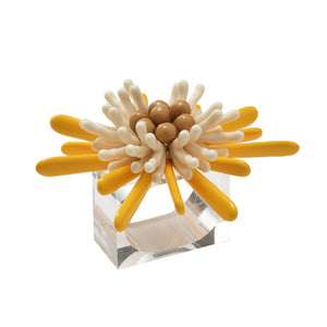 Capri Napkin Rings in Yellow & White