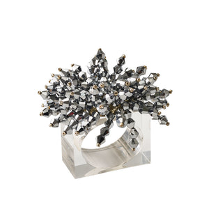BRILLIANT NAPKIN RING IN SILVER