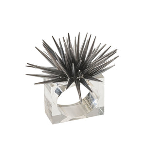 ASTRID NAPKIN RING IN GUNMETAL
