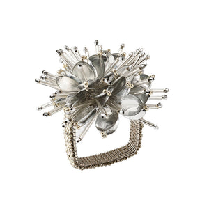 STARBURST NAPKIN RING IN SILVER