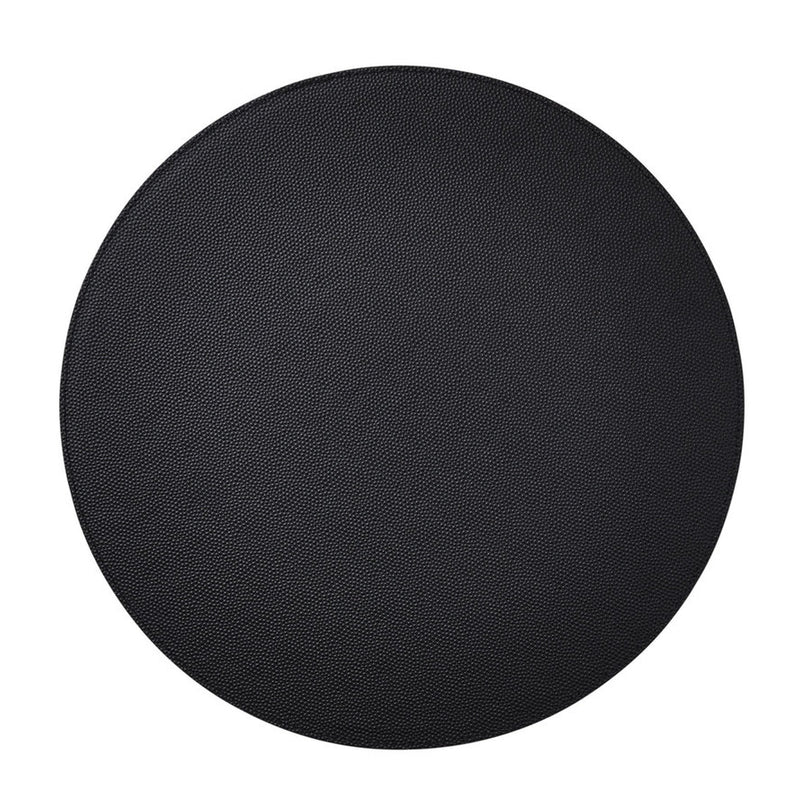 SHAGREEN PLACEMAT IN BLACK - Pioneer Linens