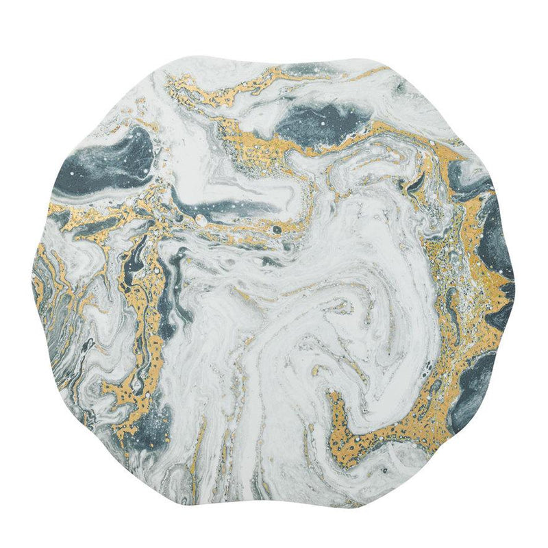 COSMOS PLACEMATS IN IVORY, GOLD & SILVER - Pioneer Linens