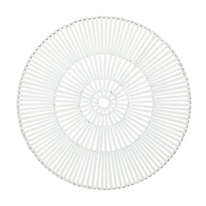 SPOKE PLACEMAT IN WHITE