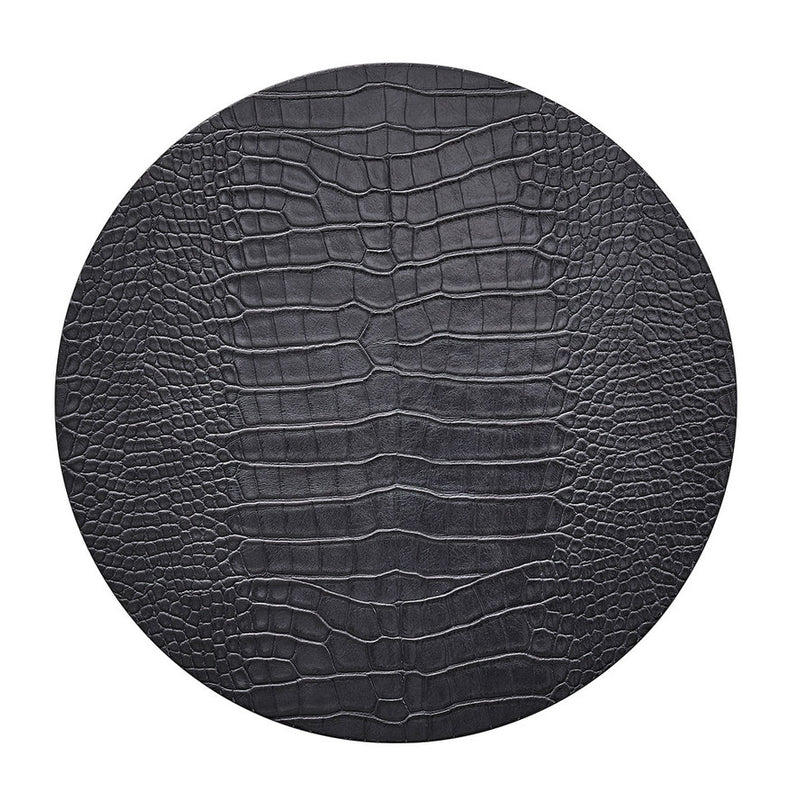 CROCO PLACEMAT IN CHARCOAL - Pioneer Linens