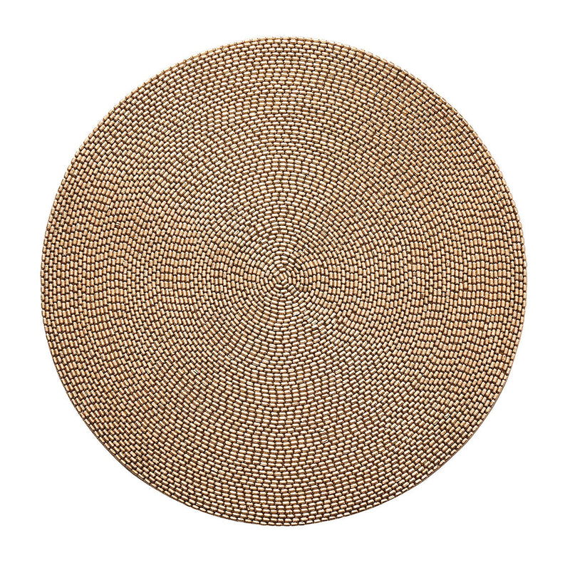 PAVE PLACEMAT IN GOLD - Pioneer Linens