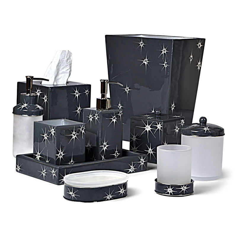 Polaris Enamel Starburst Vanity Set