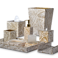 Proseco Two Tone Enamel Vanity Set