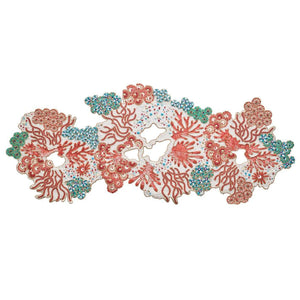 Cozumel Table Runners in Turquoise, Coral, & Gold
