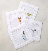 Cocktail Napkins / 6 x 6 (Set of 4)