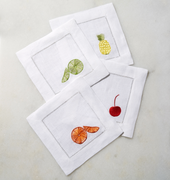 Square Cocktail Napkins / 6 x 6; Set of 4