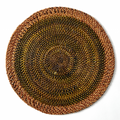 Shaded Rattan Round Placemats - Pioneer Linens