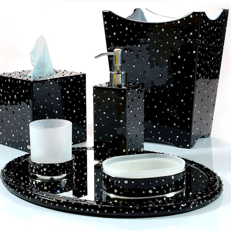 Stardust Enamel with Crystals Vanity Set