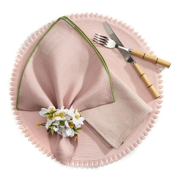 Dogwood Bouquet Napkin Rings - Pioneer Linens