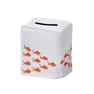 Orange Fish Tissue Box Cover