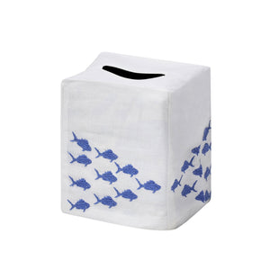 Blue Fish Tissue Box Cover