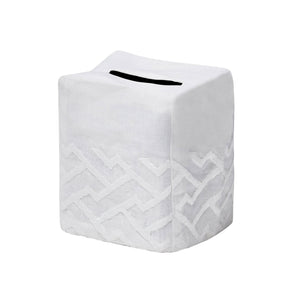 Shanghai Tissue Box Cover White