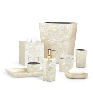 White Agate Vanity Set