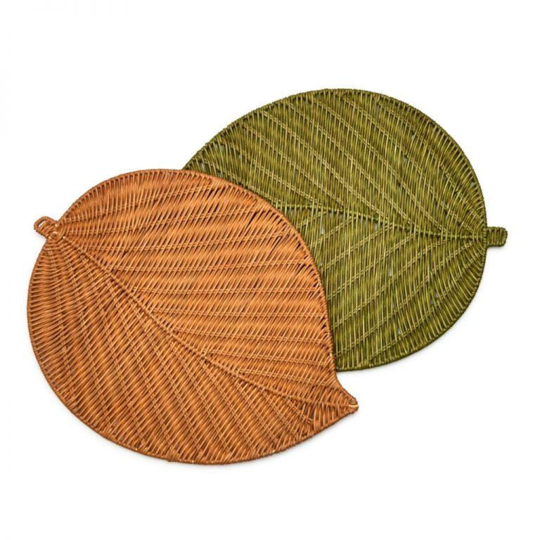 Wicker Leaf Placemats - Pioneer Linens