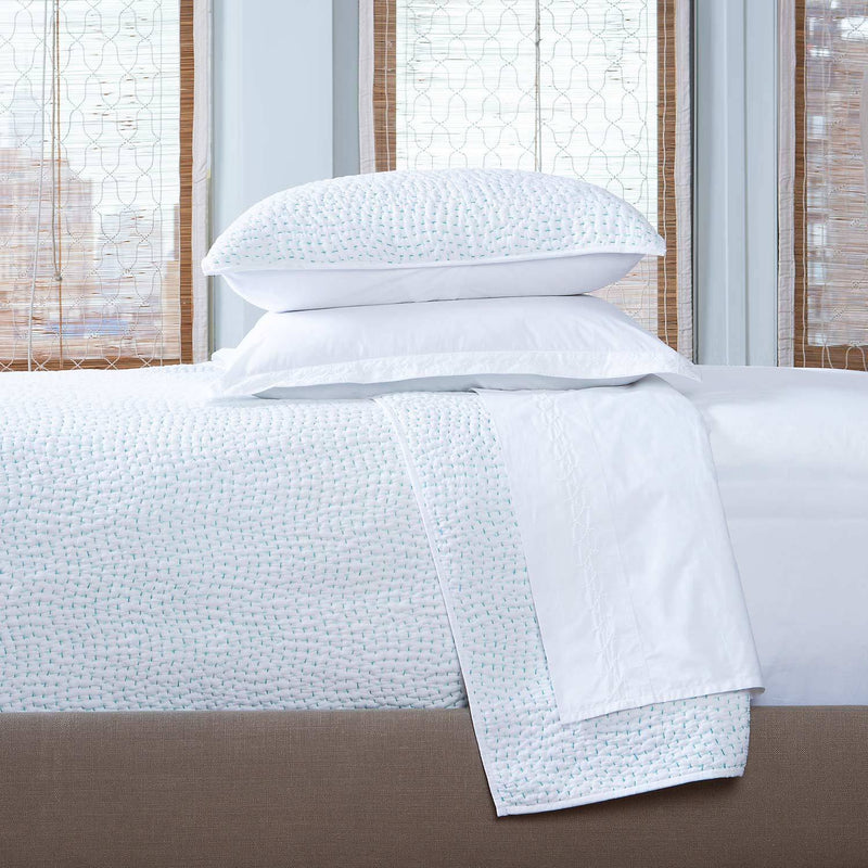 Hand Stitched Seaglass Coverlet - Pioneer Linens