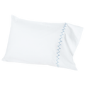 Stitched Light Indigo Sham and Sheets - Pioneer Linens