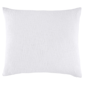 Woven White Decorative Pillow