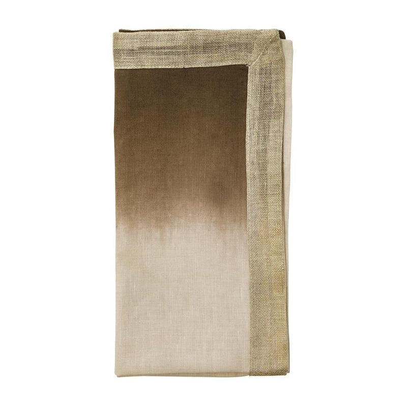 DIP DYE NAPKIN IN NATURAL, BROWN & GOLD - Pioneer Linens