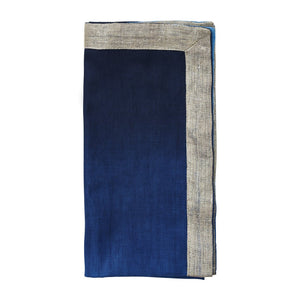 DIP DYE NAPKIN IN NAVY & BLUE