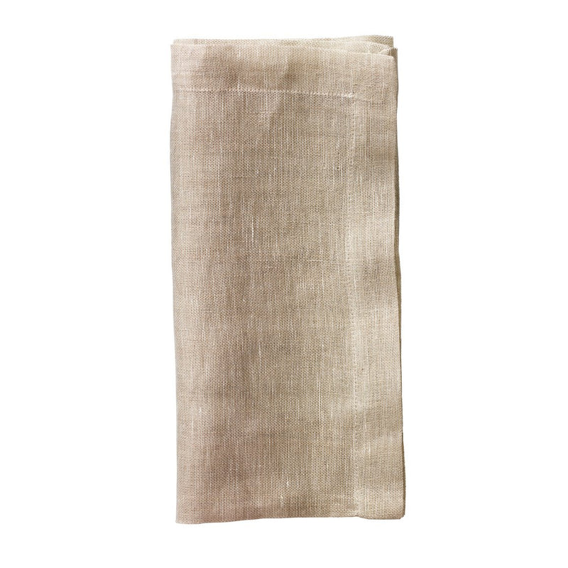 CHAMBRAY GAUZE NAPKINS IN NATURAL - Pioneer Linens