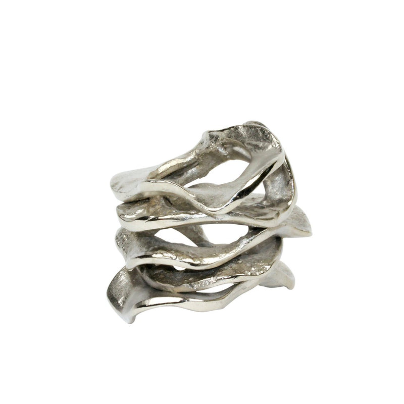 FLUX NAPKIN RING IN SILVER - Pioneer Linens